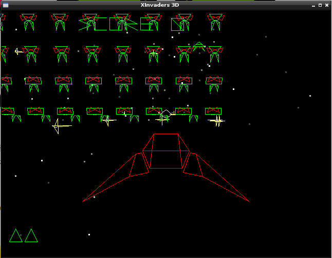 xinvaders3d 3D space invaders Raspberry Pi