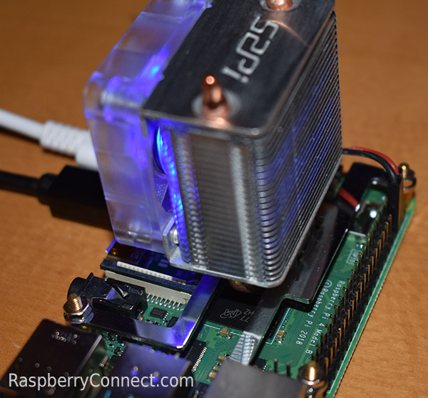 Ice Tower Cooling Fan GPIO Space